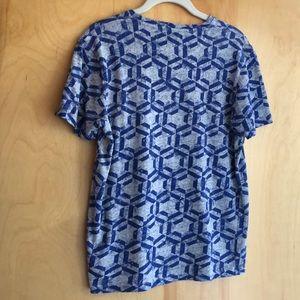 Ted Baker London Tops - Ted Baker London grey & blue short-sleeved t-shirt